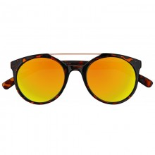 Zippo Orange Multicoated Circular Sunglasses with Brow Bar Ochelari de Soare Zippo Manufacturing Company