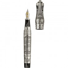 "Montegrappa Ancient Civilisation \""Thoth\\"" Fountain Pen, Silver Editii Limitate Montegrappa"