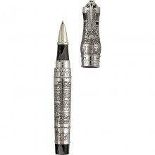 "Montegrappa Ancient Civilisation \""Thoth\\"" Rollerball Pen, Silver Editii Limitate Montegrappa"